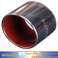 Steel Backing Red Coated Sliding Bearing Customized Self Lubricating Flanged Sleeve Bearing DU Bush DP4 Bushing