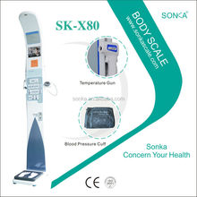 Weighing Scale Circuit Board SK-X80-001 2016 Professional In weight/height/BMI Test Machine