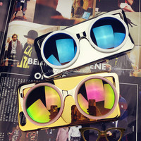 Suitable for iphone6plus Korea Creative 3D mirror sunglasses glasses personalized phone shell protective sleeve for apple 6