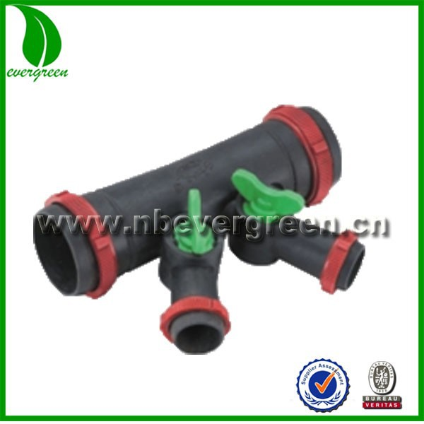 micro spray hose 4 ways couplings with Valve