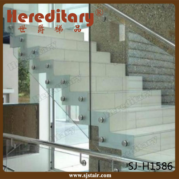 stainless steel 316l glass fastener standoffs for concrete stairs