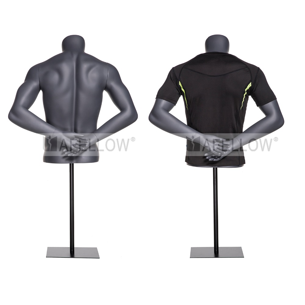 hot sale fiberglass male half body sports mannequin for window display