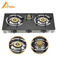 Wholesale Indian Style Cheap Gas Range,Indoor Portable Triple 3 Burner Tempered Glass Gas Cookers Stove For Sale