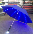 China Factory Cool flashing Popular LED Umbrella with torch handle