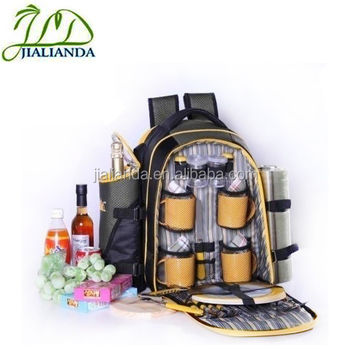 Outdoor picnic bag 4 person picnic backpack fashion bag for campingJLD-T41012