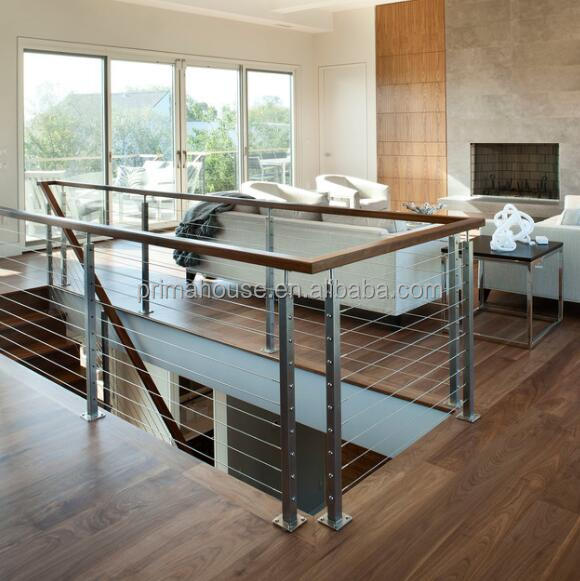 Stainless steel cable railing kits horizontal balcony railings
