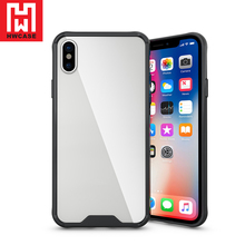 HWCASE China supplier TPU Tempered Glass Crystal Tofu mobile phone Case for iPhone x