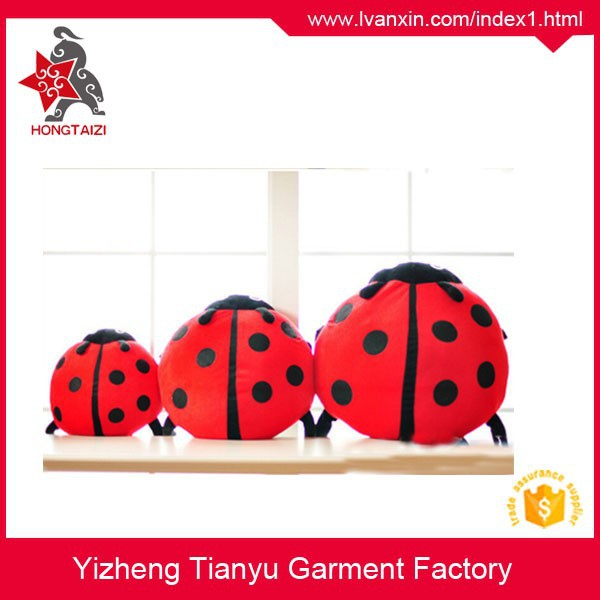 OEM stuffed plush insects pillow Plush beetle toys