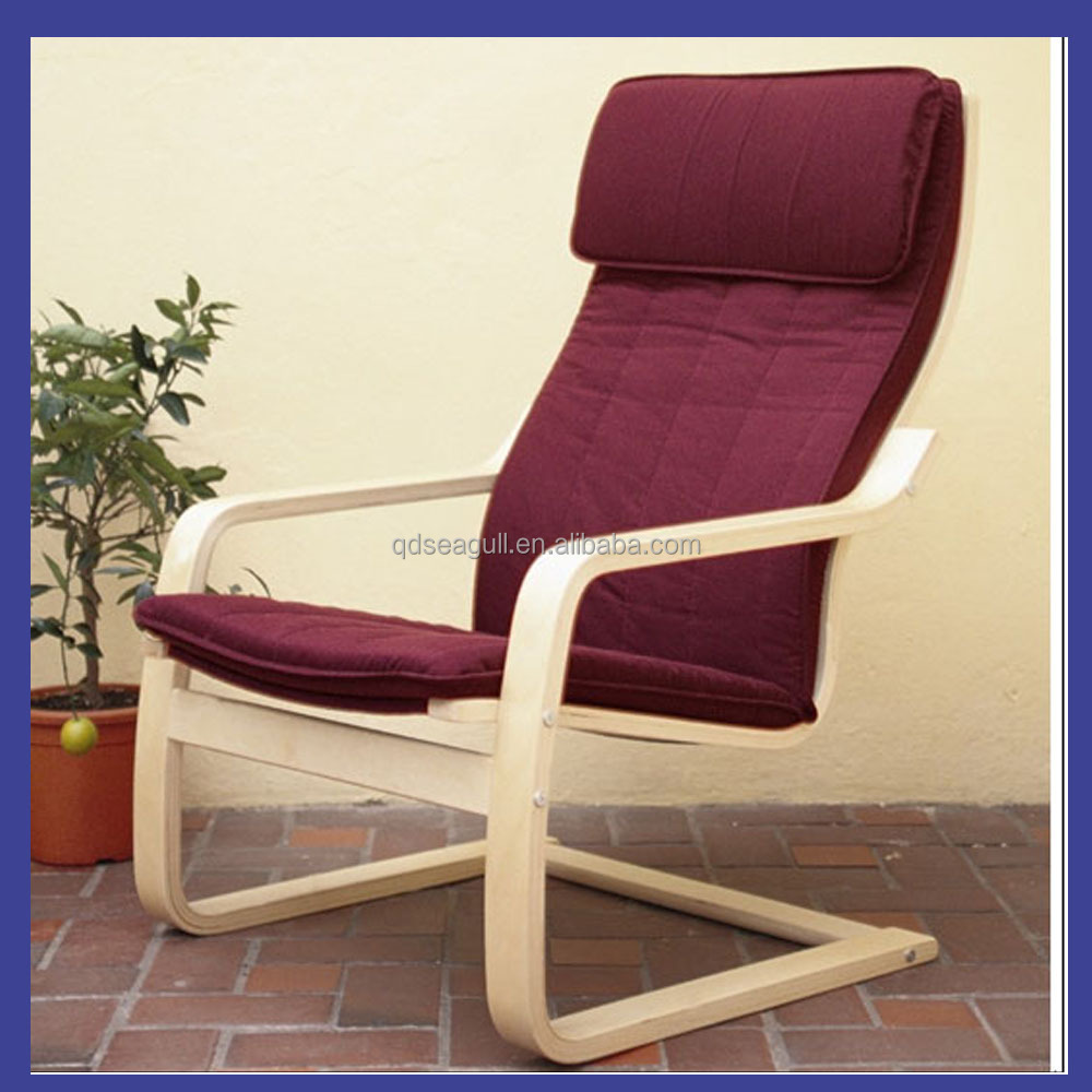 good quality and cheap relax chair made by birch bentwood with cushion