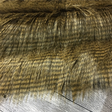 High quality long hair faux fur tip dyed fur teddy bear knitted artificial fur fabric