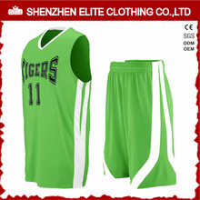 Hot selling Popular Fashion Basketball Uniforms Green