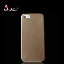 Premium classic solid back case mobile phone leather cover case for iphone5s/SE
