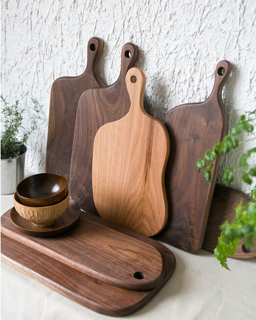 Kitchen accessories Black walnut wood cheese board serving tray