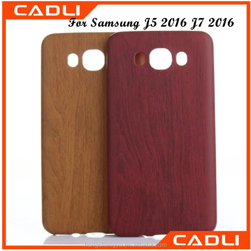 TPU Wooden Design Printing cell phone case for samsung J5 J7 2016