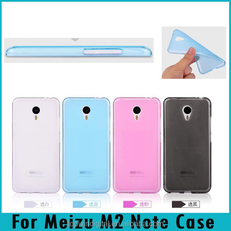 M2 Note Transparent Colorful Skin Silicon Soft TPU Cover Back Case For Meizu M2 Note