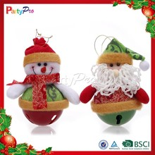 Partypro 2015 New Product Christmas Toy Funny Small Flannel Santa Claus Decoration