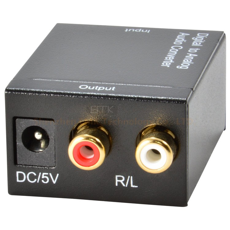 digital spdif optical fiber toslink audio output cctv digital to analog audio video tv converter 5.1 / 7.1 decoder box