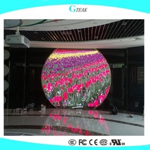 HD full color curved led tv display screen for indoor led advertising display