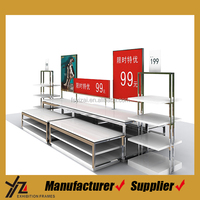 Wood/metal wholesale clothing store shop fitting display racks /shoes display shelf or stand/Metal clothes display rack for kids