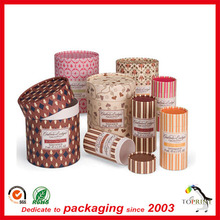 Custom chocolate boxes packaging cylinder diploma cardboard packaging tube food grade paper container