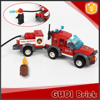 122PCS fire man ABS building blocks set construction toy for adult
