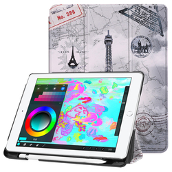 XOWO New Smart Colorful Printed Stand Flip Case with Stylus Holder for iPad 5/6/7/8 2018,with Wake Up and Sleep Function