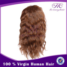 100 Percent Indian Women Human Hair Deep Wave Full Lace wig