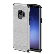 New Arrival Hybrid TPU Impact Resistant PC Cover Slim Brushed Mobile Phone Case For Samsung Galaxy S9 Plus