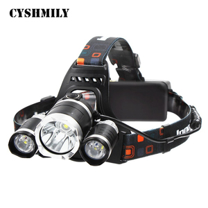 CYSHMILY T6 18650 Tactical Hunting Headlight Flashlight 4 Modes Rechargeable Waterproof Led Headlamp