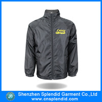 Custom cheap lightweight black windbreaker jacket