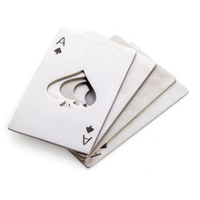 High quality promotional wedding gifts for guests advertising product poker bottle opener