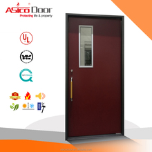 UL listed emergency escape fire rated steel door with glass insert vision panel