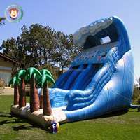 2017 best quality inflatable dry slide inflatable wave water slide