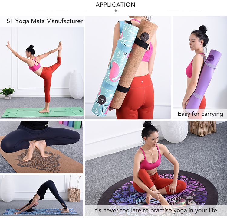 Free sample Amazon hot sale private label eco natural rubber full color design custom printed yoga mat non slip