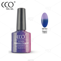 CCO Rainbow 7.3ml Chameleon Waterproof Nail Gel Polish Soak Off Temperature Change Nail Gel Polish