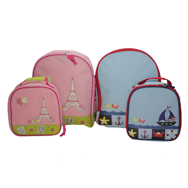adorable kids backpack and lunch bag set