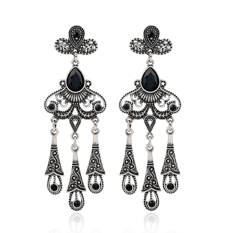 ER1002 Hot hot style earrings Europe and the United States to restore ancient ways of carve patterns or designs on woodwork holl