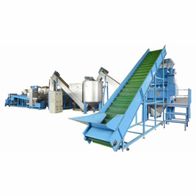 500 kg wind-cooling hot-cutting waste plastic pp/pe flake recycling crushing washing machine