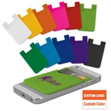 Free Sample Rubber Business Wallet Silicone Smart Wallet Silicone Card Holder for Mobile Phone