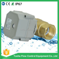 "DN20 2-way small mini 3/4"" electric ball motorized valve controller"