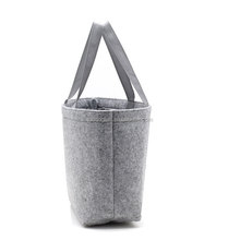 New style wholesale High quality customized size cow leather wool felt bag felt bag for ipad