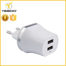 Warranty 12 months travel portable usb multi charger output 5V 1A 2.1A