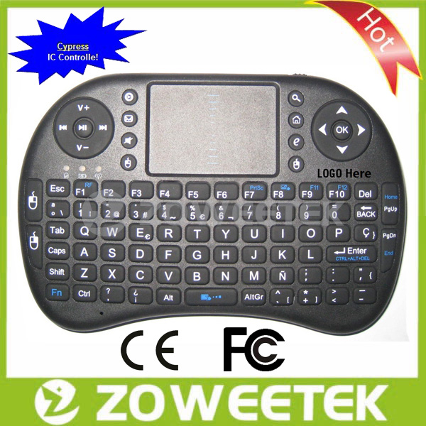 For Android TV Stick Ultra Thin Wireless Keyboard Qwerty Keyboard
