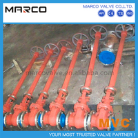 Professional supply special buried or underground or low temperature bb os&y extended long stem gate valve