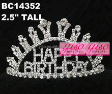 fashion crystal wholesale girls cheap birthday butterfly crown tiaras