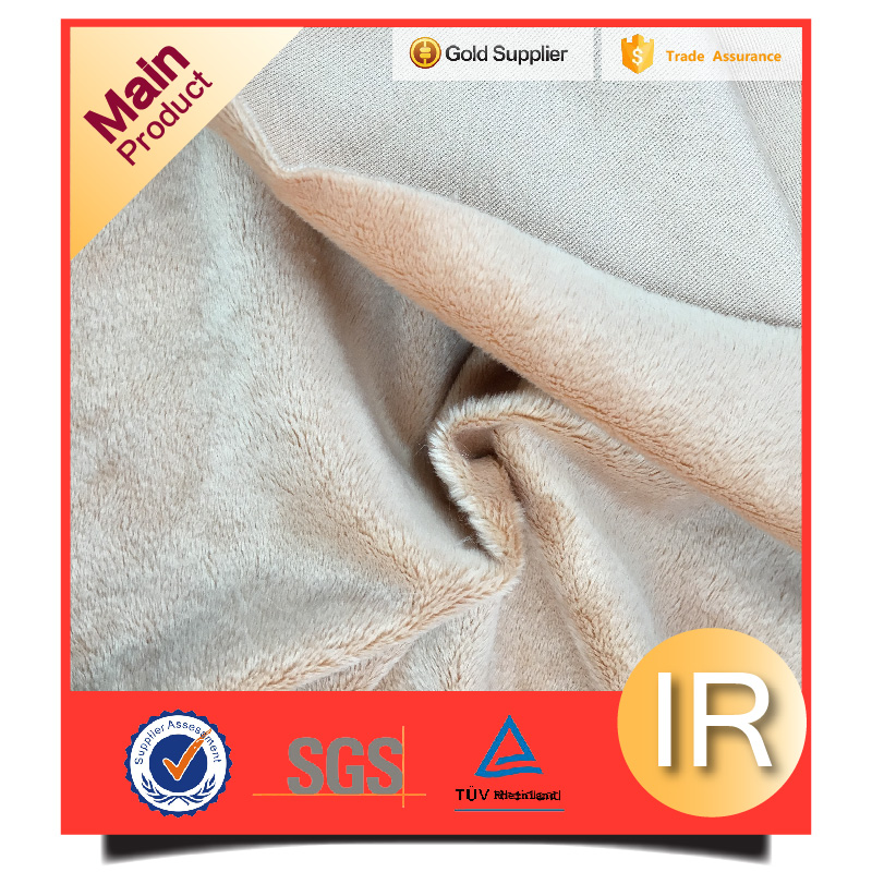 plush polyester velboa fur toy fabric