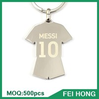 Wholesale bulk two sided custom souvenir soccer keychain world cup gift