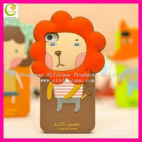 Promotional cheap advertising gifts hot selling lovely romane silicone lion case for iphone 5
