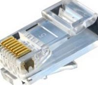 Hot Sell Copper RJ 45 ConnectorRJ 45 Connector with LED and Transformer RJ11 RJ45 Connector