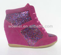 2013 fashion glitter women wedge shoes